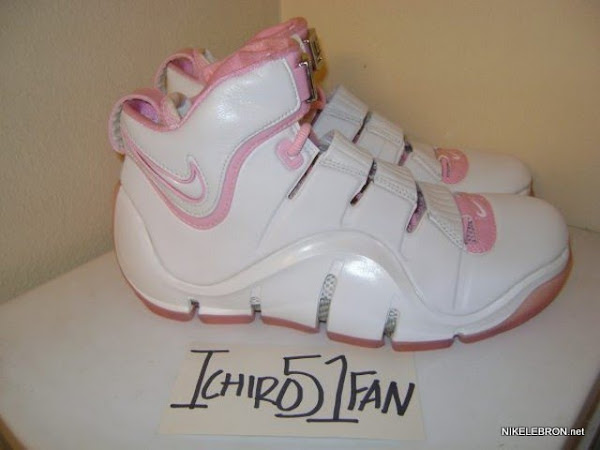 Throwback Thursday White  Pink Zoom LeBron IV aka 8220Gloria8221 PE