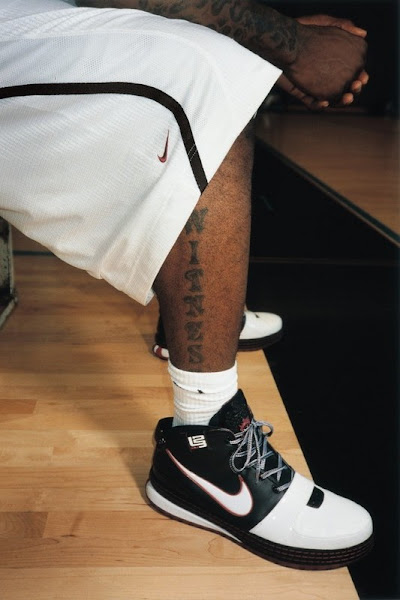 Close up of LeBron8217s New Shoes and Tattoos 8211 WITNESS HISTORY