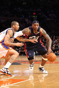 lebron james nba 090204 cle at nyc 03 Not Kobe. Not Jordan. LeBron Does Things Own Way with a 50 point Triple Double!