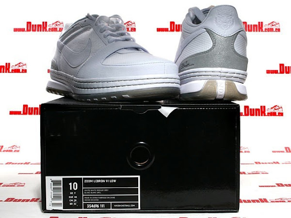 Nike Zoom LeBron 6 Low White Medium Grey GR Version
