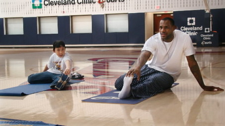 LeBron8217s Extra Edge Devotion to Yoga Helps Keep James Healthy