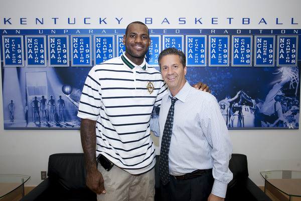 LeBron James Wearing the Air Jordan IX PE at Kentucky Campus