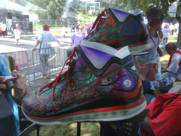 Unknown Nike Air Max LeBron VII Artist Series Sighting in Akron