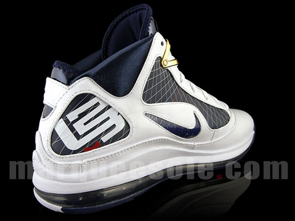 Nike Air Max LeBron VII WhiteMidnight NavyVarsity Red