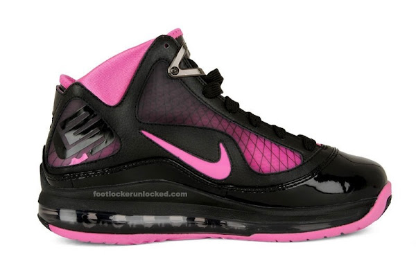 Nike Air Max LeBron VII GS Black  Pink Fire Kids Only