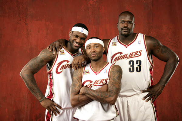 LeBron James and Shaquille O8217Neal 8211 NBA 0910 Media Day