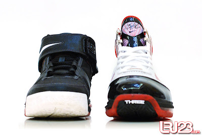 nike air max lebron 7 gr black red white 12 front2 1 2 3 4 5 6 7: Nike LeBron Series Round Up / Comparison