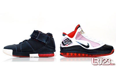 nike air max lebron 7 gr black red white 12 inside2 1 2 3 4 5 6 7: Nike LeBron Series Round Up / Comparison