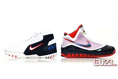 nike air max lebron 7 gr black red white 12 side1 1 2 3 4 5 6 7: Nike LeBron Series Round Up / Comparison