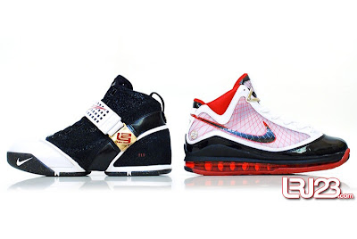 nike air max lebron 7 gr black red white 12 side5 1 2 3 4 5 6 7: Nike LeBron Series Round Up / Comparison