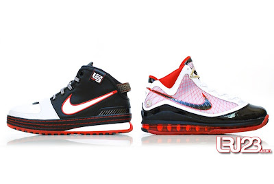 nike air max lebron 7 gr black red white 12 side7 1 2 3 4 5 6 7: Nike LeBron Series Round Up / Comparison
