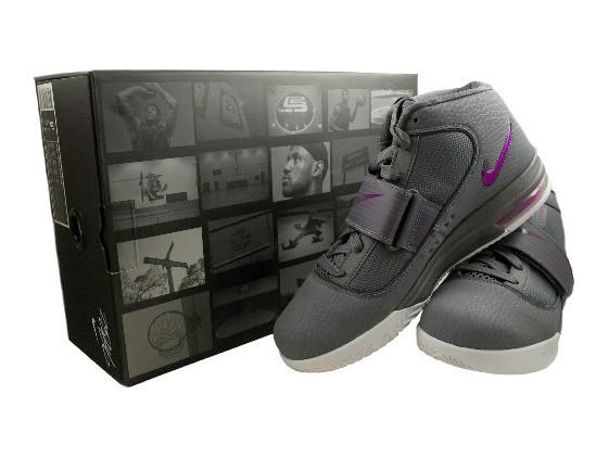 Nike Zoom Soldier IV 8211 GreyPurpleWhite 8211 Closer Look