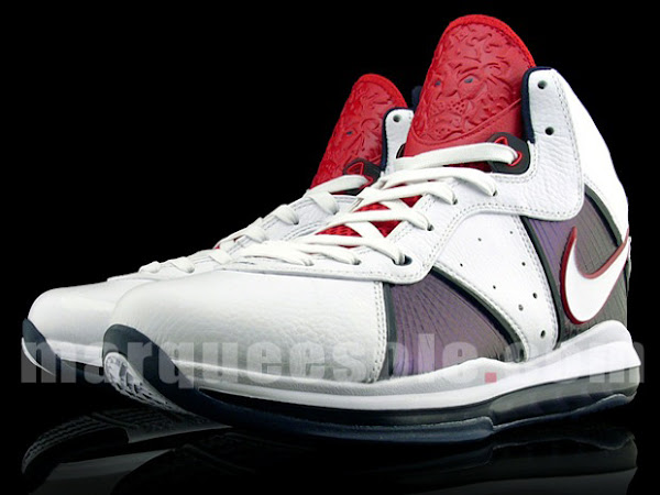 Nike Air Max LeBron VIII 8 USAB WhiteBlueRed Sample