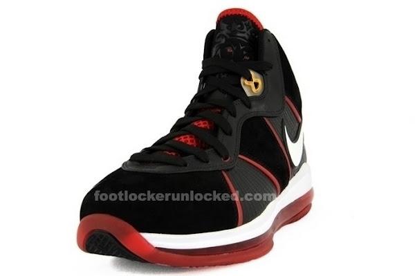 Nike Air Max LeBron VIII BlackWhiteRed L23 Logo Sample