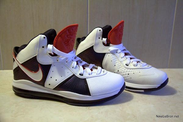 Nike Air Max LeBron VIII 8 USAB WhiteNavyRed Actual Photos