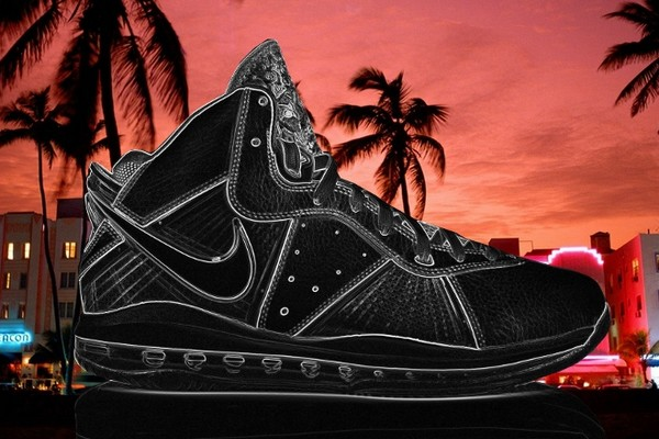 Nike Air Max LeBron VIII 417098401 Miami Heat Retro Style