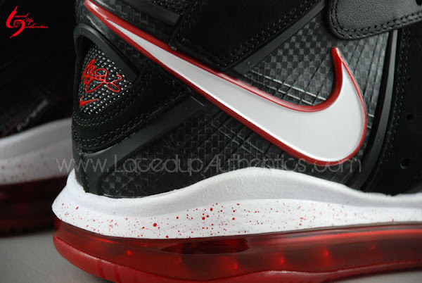 Nike Air Max LeBron 8 Inline 8211 BlackWhiteRed 8211 Detailed Gallery
