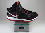 lebron8 black white red gram Weightionary