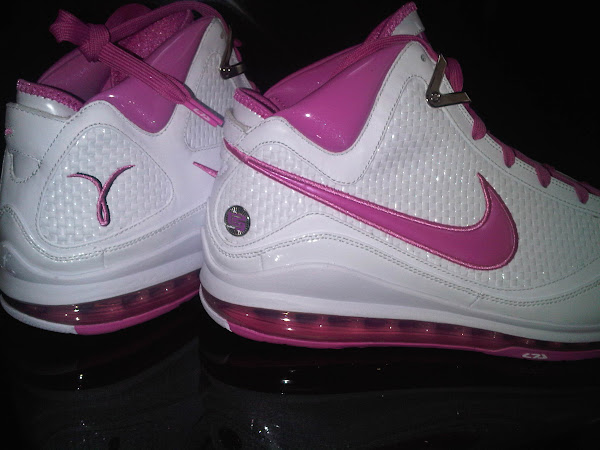 Nike Air Max LeBron VII PE Breast Cancer Awareness White