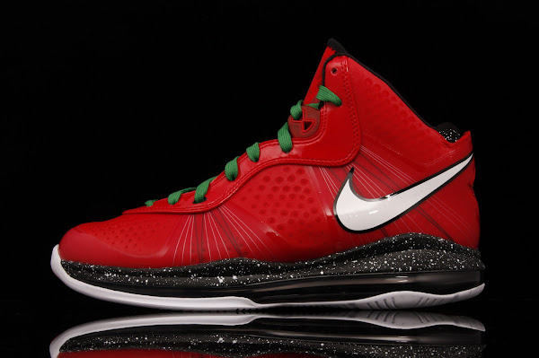 Fresh Look at Nike LeBron V2 Christmas Exclusive with Red Laces