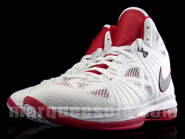 First Look at Nike LeBron 8 PS V3 White  Black  Red