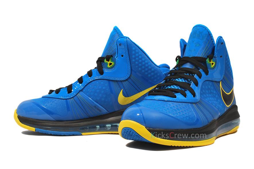 94765655a21c Nike LeBron 8 V2 8220Entourage8221 Photo BlueBlackTour Yellow ...