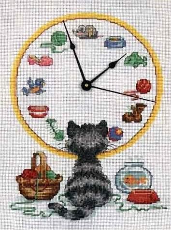 Esquemas relojes en punto de cruz for Esquemas punto de cruz cocina