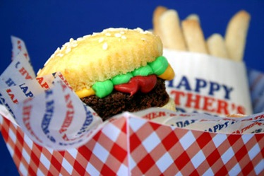 happy fathers day fast food cake