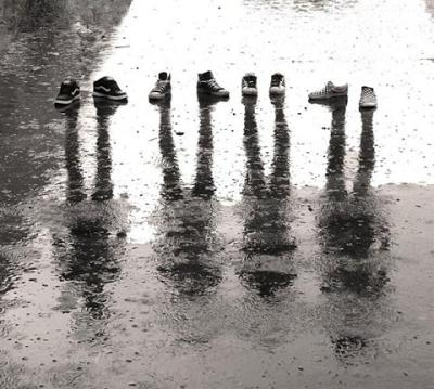 Amazing Shadow Pictures with Just Shoes and Rain