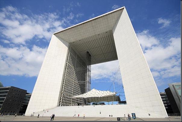 Great arche of defense ( Paris , France)