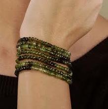 bracelet of green tourmaline beads.jpg