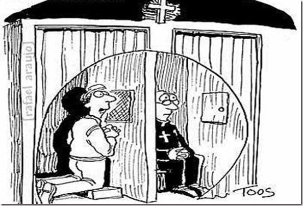 Padre confessando