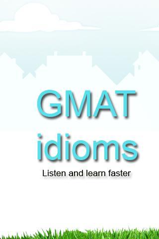 GMAT GRE SAT Idioms Audio