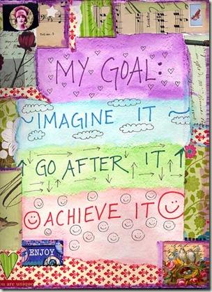 Моя цель - придумать, приступить к достижению цели, добиться того, о чем мечталось!
