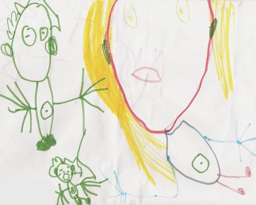 """Наташа, 4 года, картина """"Пупки"""""""