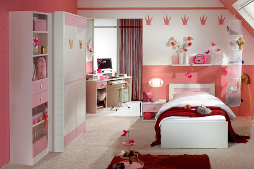 Image for Lovely Pink Bedroom Design for Lovely Girls