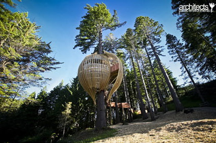 Yellow Treehouse Design by Pacific Environments