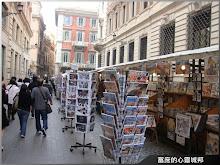 義大利羅馬市區內熱鬧的攤商