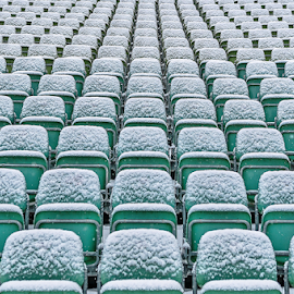 The show must go on! by Jesus Giraldo - Abstract Patterns ( winter, cold, wintersnow, seats )
