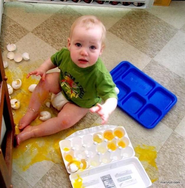 孩子捣蛋 蛋蛋,鸡蛋