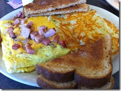 Breakfast at The Depot Cafe