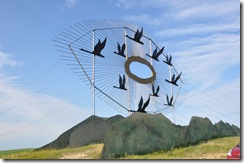 """Geese in Flight"" World's Largest Scrap Metal Sculpture"