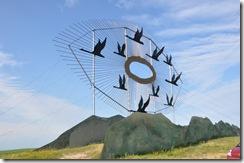 """Geese in Flight"" World's Largest Scrap Metal Sculpture"