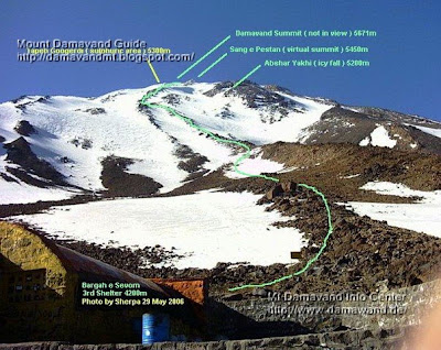 Route Mount Damavand