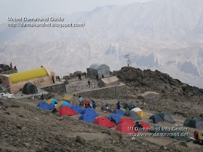Mt Damavand Bargah Sevom Shelter and Tents
