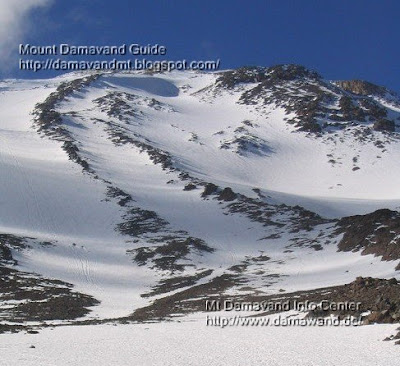 Mt Damavand South Route beginning of climbing season