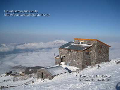 Mt Damavand south route Camp3 Bargah Sevom New Hut and Old Shelter/Refuge