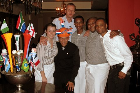 The Tasting Room team with Daf - our very patriotic Dutch guest.