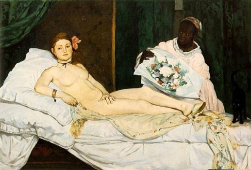 """""""Olympia"""", obra de  Edouard Manet"""