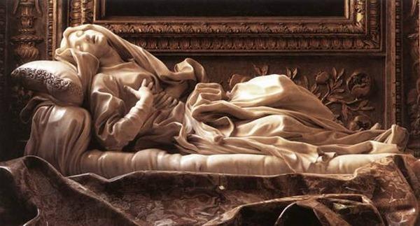 A Beata Ludovica Albertoni (1671-1674) de Gianlorenzo Bernini. San Francesco a Ripa, Roma